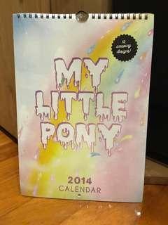 2014 MY LITTLE PONY calendar BNIP 12 Amazing Designs fr TYPO
