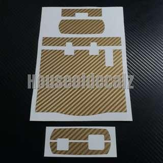 IU Sticker 3D Gold Carbon Fibre wrap for Slim unit