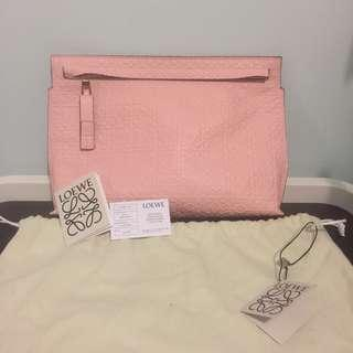 LOEWE T Pouch Repeat Sand 107.55.K05