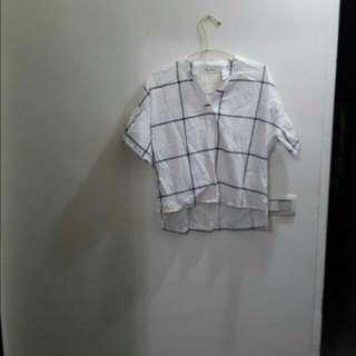 韓版棉質短袖襯衫