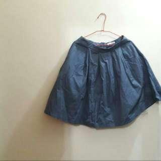 Pazzo海軍藍打摺圓裙