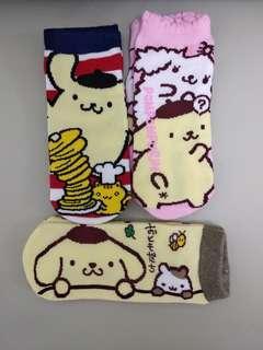 三麗鷗 布甸狗襪 布丁狗襪 Sanrio pompompurin socks