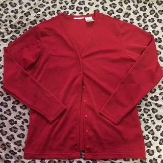 Glittery Red Coverup Cardigan - Large