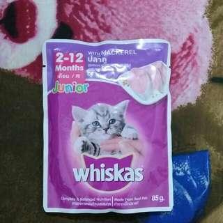 #nett Whiskas Junior Mackarel (2-12 bulan)