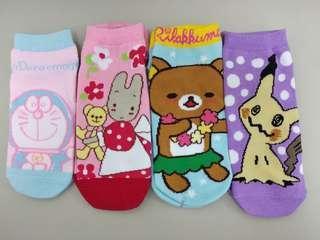 卡通純棉短襪