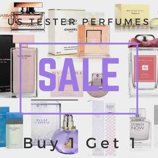 US Tester Perfumes now on S A L E