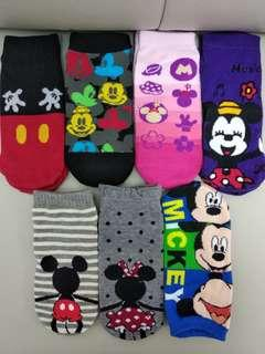 迪士尼米奇米妮純棉短襪 disney mickey Minnie socks