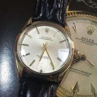 舊裝Rolex 勞力士18k 包金 1025 全自動機械手錶