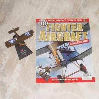 Fighter Aircraft Collection Magazine #48 Royal Aircraft Factory SE5a Diecast Model UK War World 1 Battle Of Britain Giant Warplane Mint