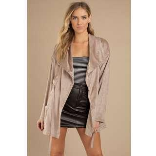 🚚 ❣️ TOBI Nava Faux Suede Anorak in Taupe, XS