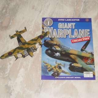 Giant Warplane Collection Magazine #1 Avro Lancaster Diecast Model UK World War 2 Battle Of Britain Fighter Aircraft Mint