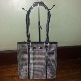 Original Ralph Lauren rl houndstooth zippered bag
