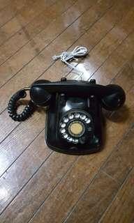 🚚 早期電木撥盤電話機,可接可撥
