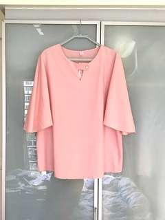 Plus size brand new flare sleeve top