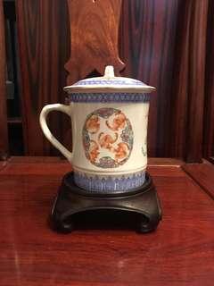 八十年代「五福臨門」茶杯