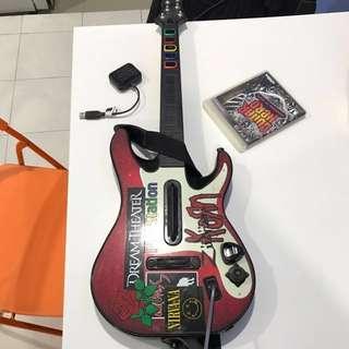 Guitar n cd guitar hero ps3