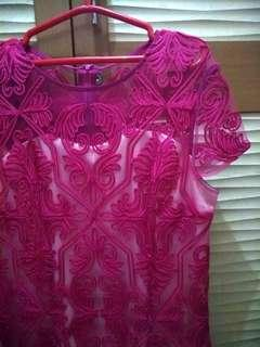 Import fuschia dress
