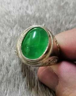 Antique Imperial Green Jade Ring