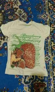 Kaos Strawberry #oktosale