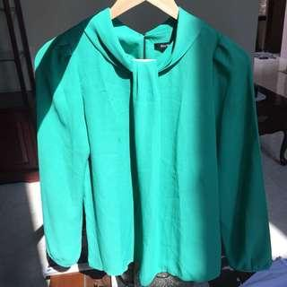 tosca green blouse