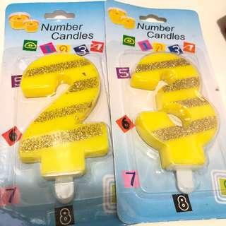 超抵價7cm大 生日蠟燭 數字 2字 3字