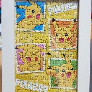 Pikachu puzzle with frame