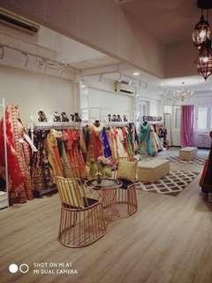 Lehngas, Sarees and Shervani for rent