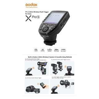 Godox XProS TTL 2.4GHz Wireless Flash Trigger for Sony (BLACK)