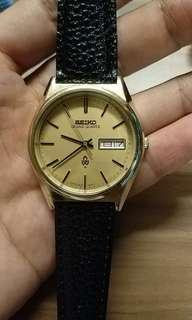 VINTAGE Seiko Grand Quartz 4843-8110 cap gold