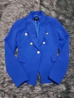 Mango blue suit blazer