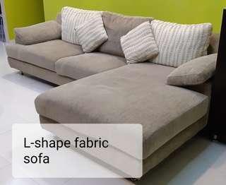 L-shape sofa with cushions