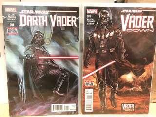 Star Wars Darth Vader #1 and Vader Down #1