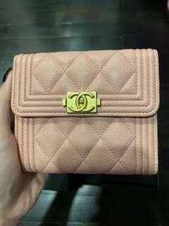 Chanel boy wallet in pink