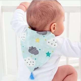 隔汗巾/吸汗巾/全棉墊背巾(嬰兒兒童啱用)