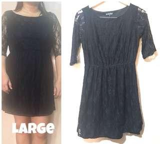 Black laced party / officw dress