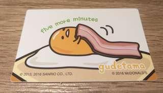 【珍藏】2016年蛋黃哥x麥當勞為食卡