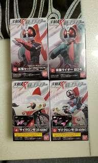 BANDAI SHODO X 幪面超人 掌動驅 舊二號+旋風號+擴充包 (可變成新2號及轉用電單車) #2+4+5+6