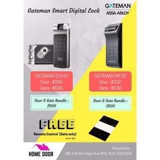 Gateman WF20 & Z10 Digital Lock Bundle for Door & Gate