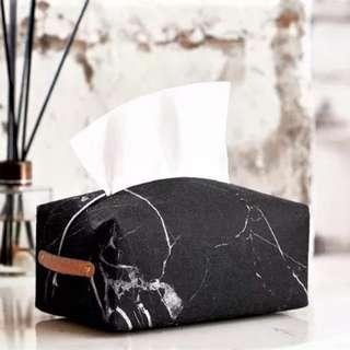 🚚 Marble Handle Tissue Cover - Black