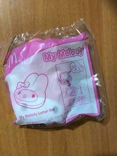 Sanrio My Melody x McDonald's Letter Set