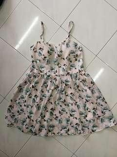 Floral Spaghetti Busted Dress