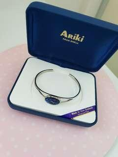 Ariki Paua Shell Bracelet 925 Silver