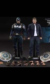 Hot Toys Captain America Soldier And Steve Roger Bundle MSIB