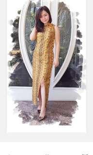 Batik slit dress