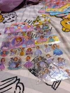 Disney Sofia 蘇菲亞 公主 果凍貼紙 玻璃貼 可重覆貼