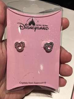 Disneyland Mickey Swarovski 米奇水晶耳環