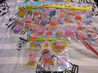 Peppa Pig 果凍貼 玻璃貼 可重覆貼