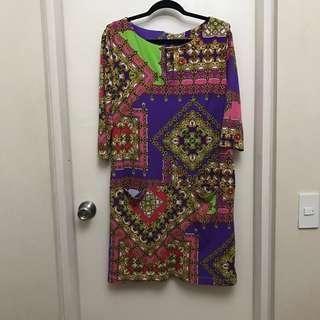 XL Miss Couture Printed Dress