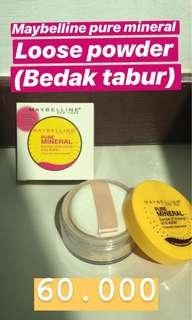 Maybelline pure mineral loose powder (bedak tabur)