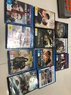 Many dvds blu ray and normal dvds